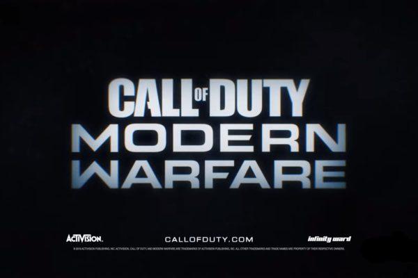 【2019年版CoD】タイトルはModern Warfareに決定